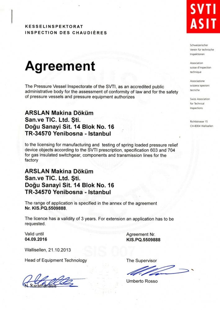 SVTI ASIT Certificate